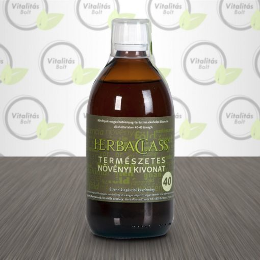"""HerbaClass Természetes növényi kivonat """"40"""" - 500 ml"""
