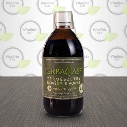 """HerbaClass Természetes növényi kivonat """"40"""" Kendermagolaj - 500 ml"""