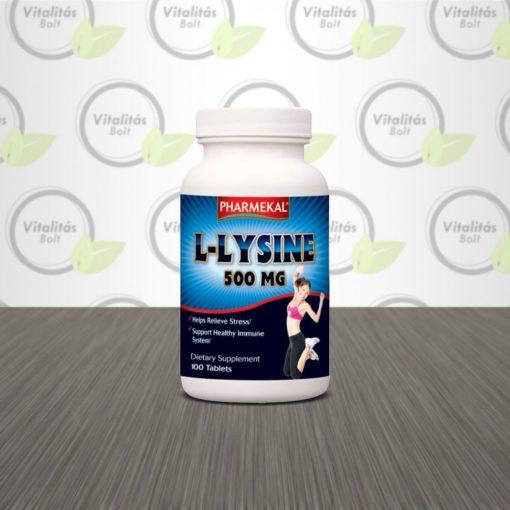 Pharmekal L-lysine tabletta - 100 db