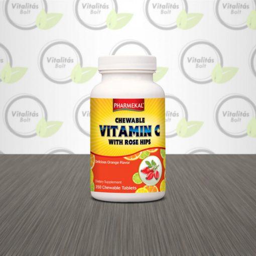 Rágható C-vitamin 200 mg csipkebogyóval - 350 db