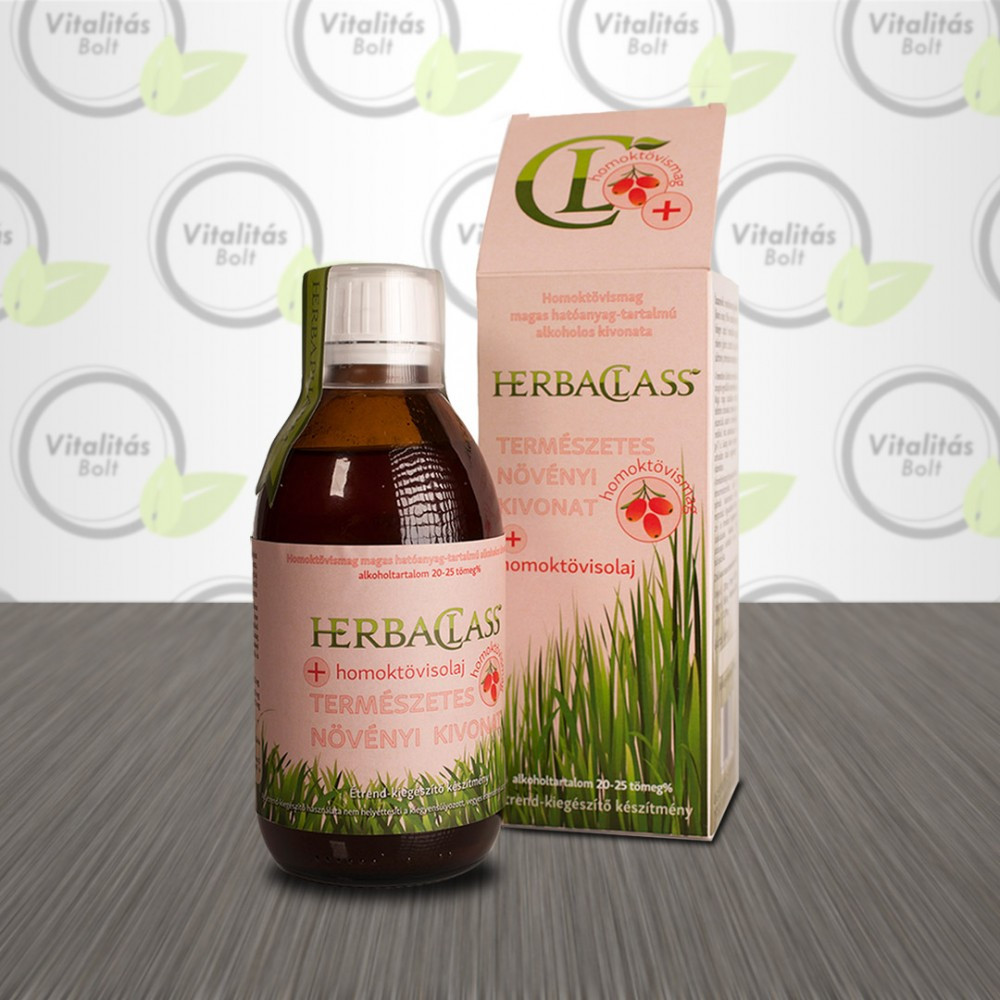 HerbaClass Természetes növényi kivonat Homoktövismag+ Homoktövisolaj - 300 ml